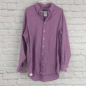 Kenneth Cole Reaction   Purple Check Button Down